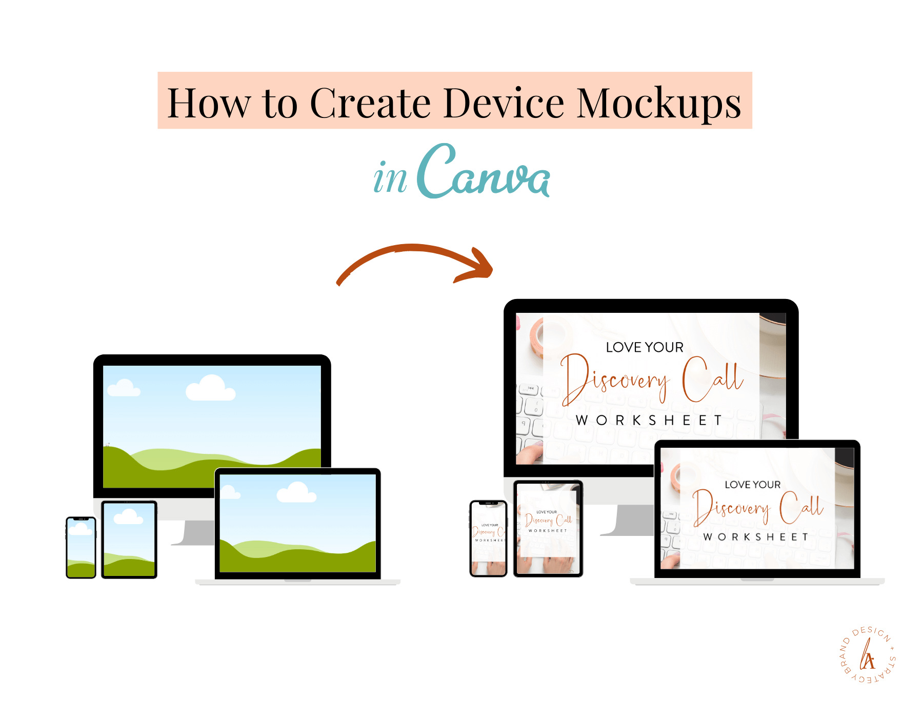 How to Create Device Mockup in Canva